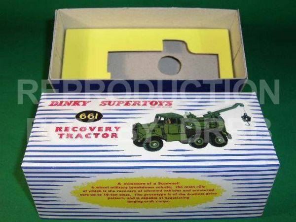 Dinky #661 Recovery Tractor - Reproduction Box